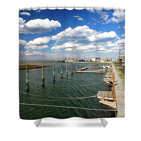 Bay Clouds On Long Beach Island Shower Curtain