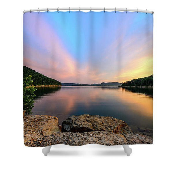 Bay Light Shower Curtain