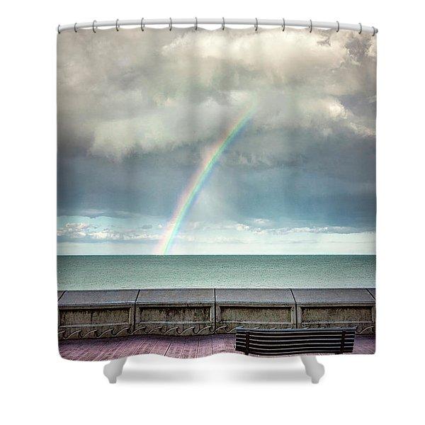 Bay Of Rainbows Shower Curtain