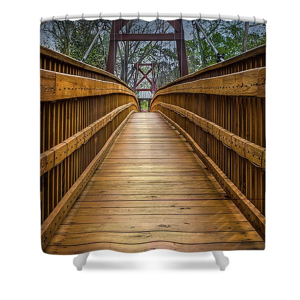 Bayou Foot Bridge Shower Curtain