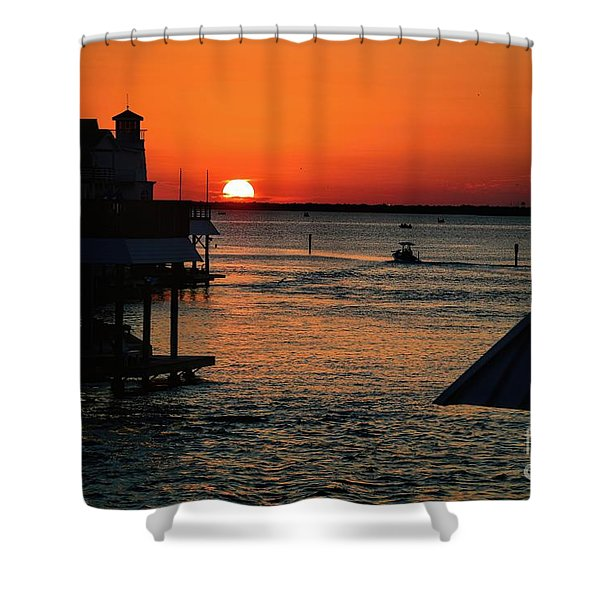Bayou Vista Sunset Shower Curtain
