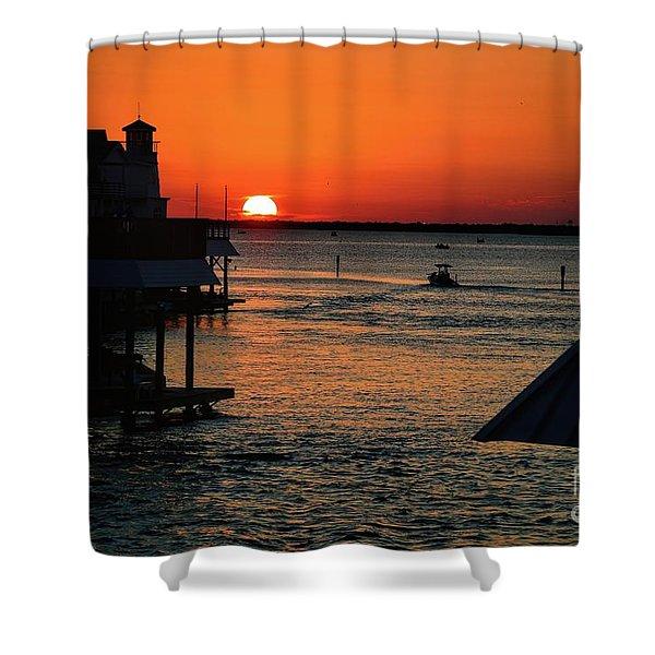 Bayou Vista Sunset Shower Curtain