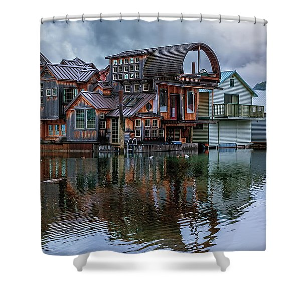 Bayview Houseboat Shower Curtain