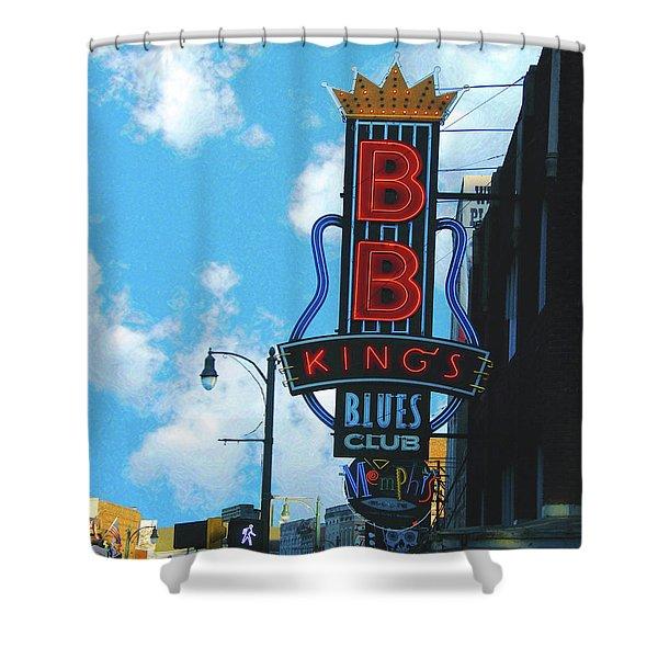 Bb Kings Shower Curtain