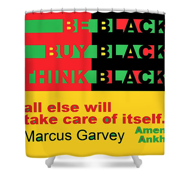 Be Black Rbg Shower Curtain