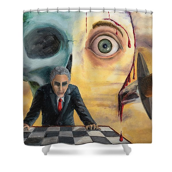 Shower Curtain featuring the painting Be Secret And Exult by Break The Silhouette
