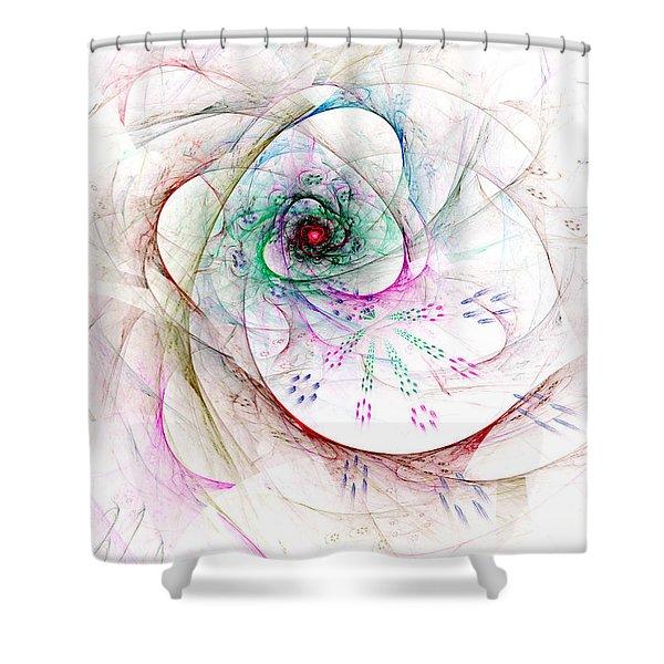Be Strong Little Flower Shower Curtain