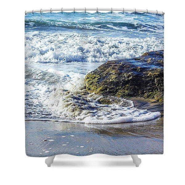 Wave Around A Rock Shower Curtain