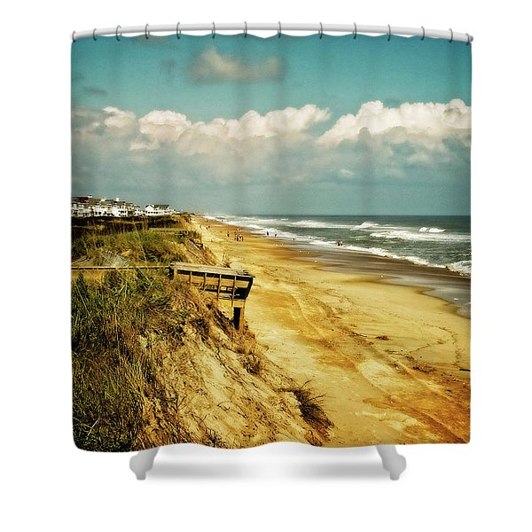 Beach At Corolla Shower Curtain