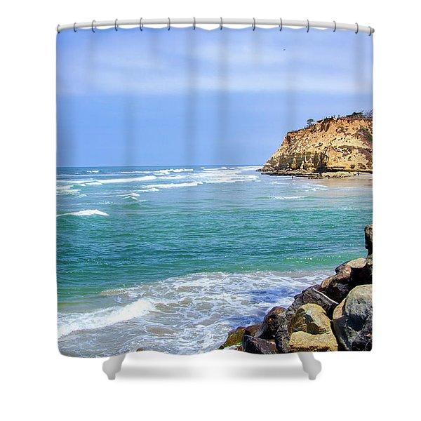 Beach At Del Mar, California Shower Curtain