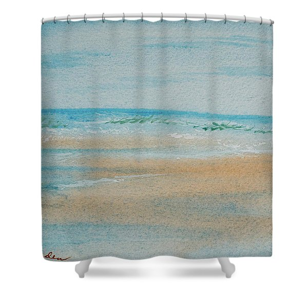 Beach At High Tide Shower Curtain