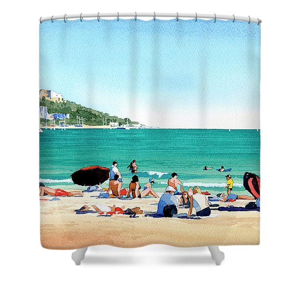 Beach At Roses, Spain Shower Curtain