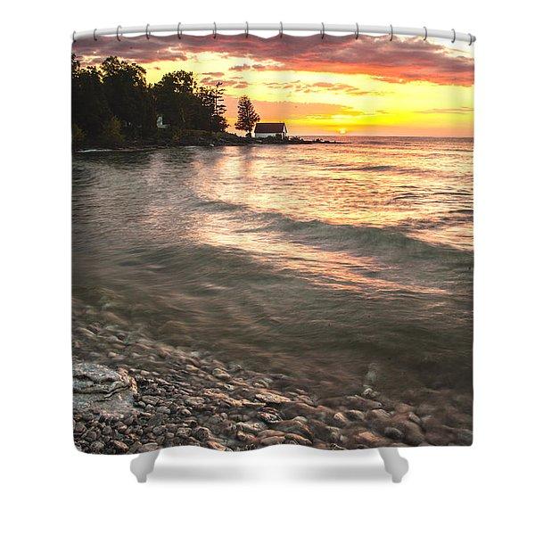 Beach Awakens Shower Curtain