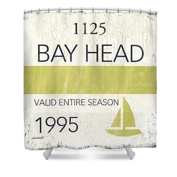 Beach Badge Bay Head Shower Curtain