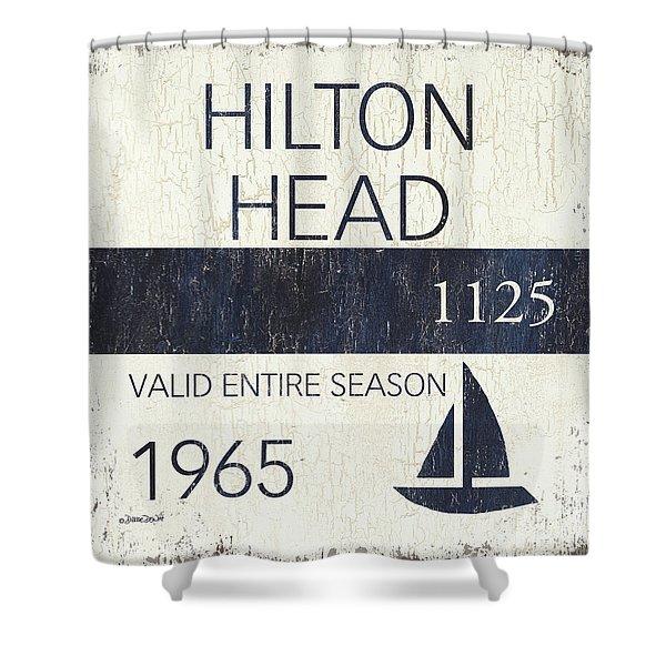 Beach Badge Hilton Head Shower Curtain