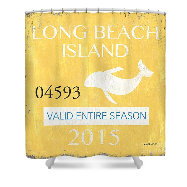 Beach Badge Long Beach Island Shower Curtain