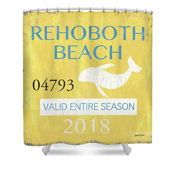 Beach Badge Rehoboth Beach Shower Curtain