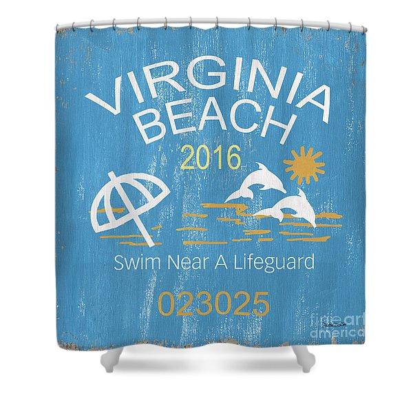 Beach Badge Virginia Beach Shower Curtain
