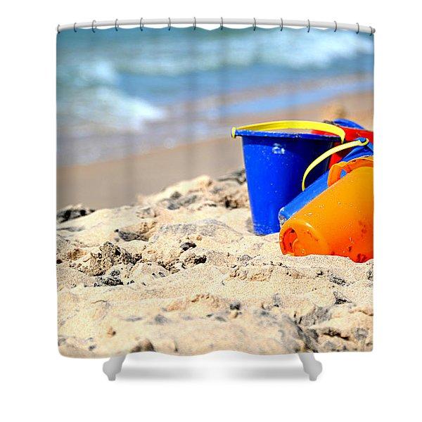 Beach Buckets Shower Curtain