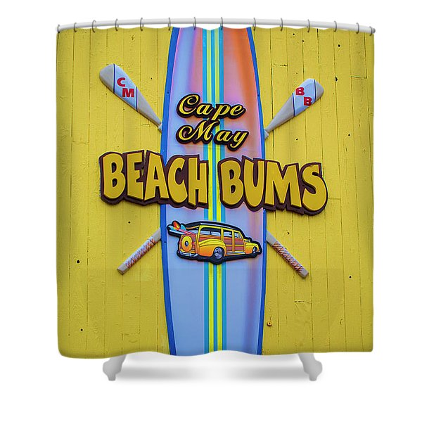Beach Bums - Cape May Shower Curtain