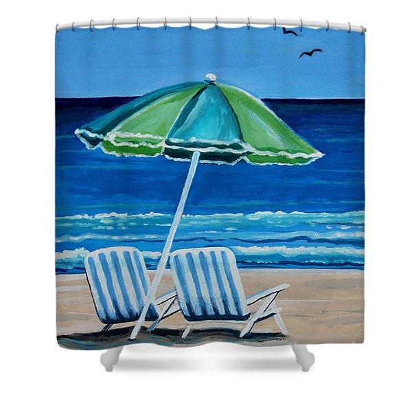Beach Chair Bliss Shower Curtain