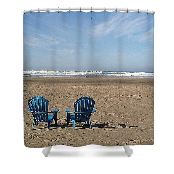 Beach Chair Pair Shower Curtain