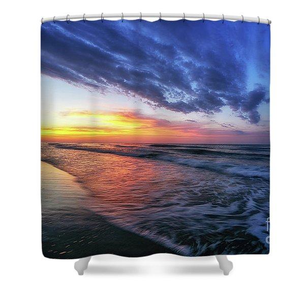 Beach Cove Sunrise Shower Curtain