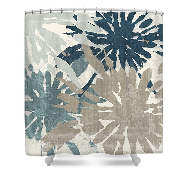 Beach Curry Iv Ikat Shower Curtain