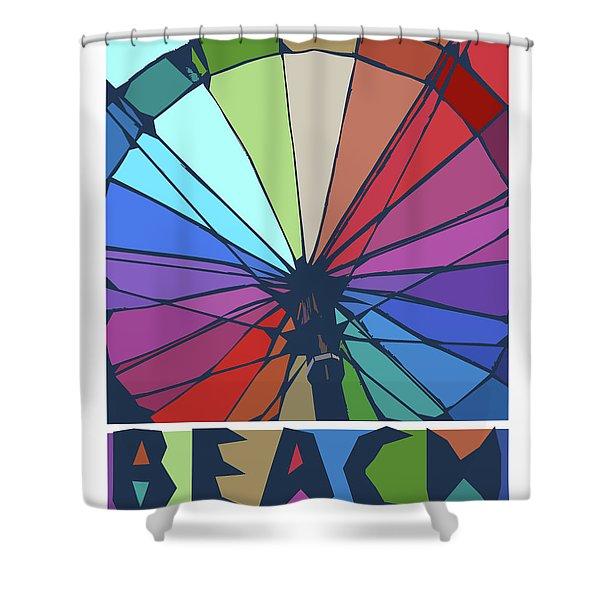 Beach Design By John Foster Dyess Shower Curtain