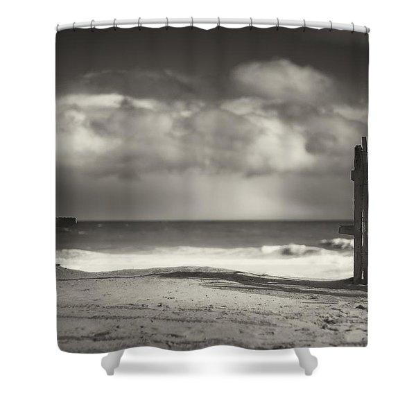 Beach Fence - Wellfleet Cape Cod Shower Curtain