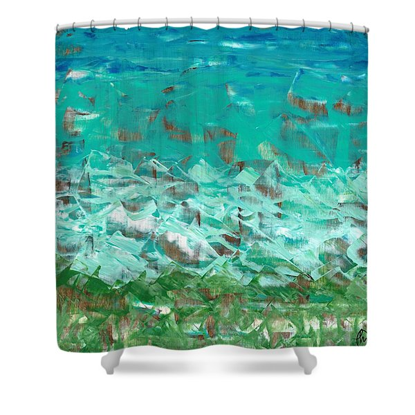 Beach Glass  Shower Curtain