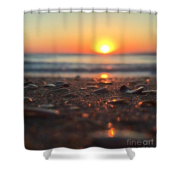 Beach Glow Shower Curtain