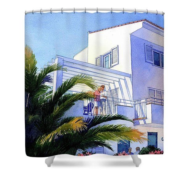 Beach House At Figueres Shower Curtain