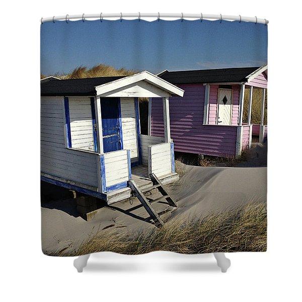 Beach Houses At Skanor Shower Curtain