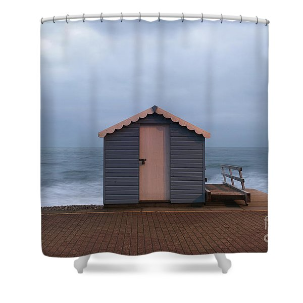 Beach Hut Shower Curtain