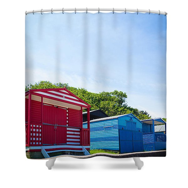 Beach Huts 1 Shower Curtain
