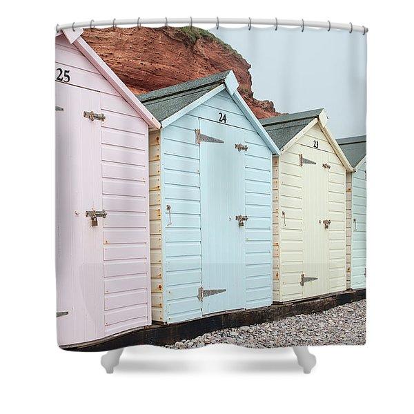 Beach Huts Vi Shower Curtain
