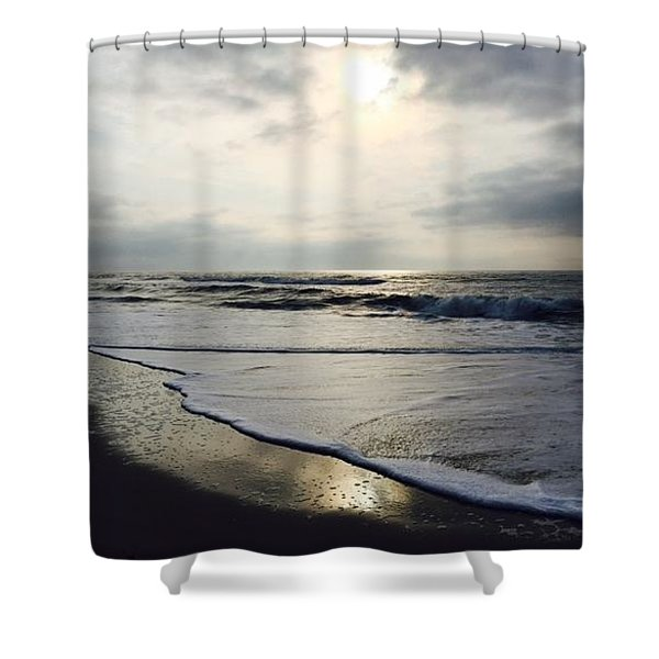Beach In The Morning Shower Curtain