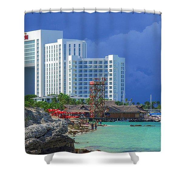 Beach Life In Cancun Shower Curtain