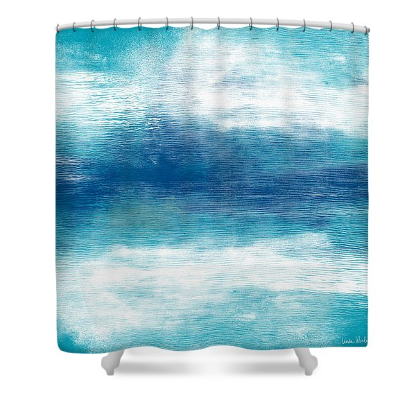 Beach Mood 2- Abstract Art By Linda Woods Shower Curtain