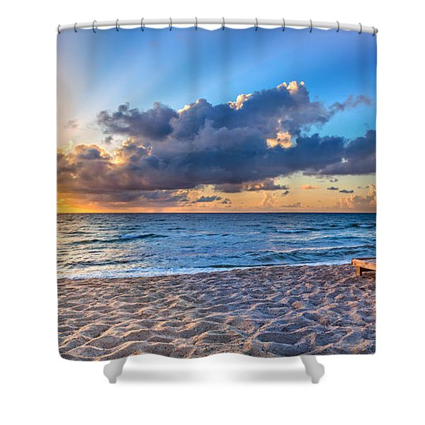 Beach Morning Shower Curtain