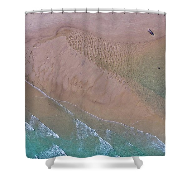 Beach Patterns At North Point On Moreton Island Shower Curtain