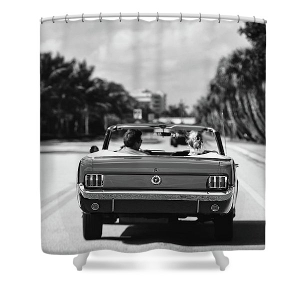 Beach Road  - 1965 Mustang  Shower Curtain