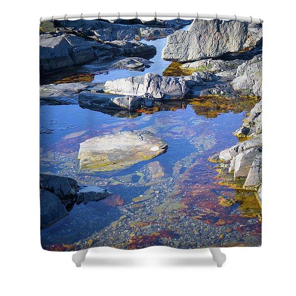 Beach Rocks Shower Curtain
