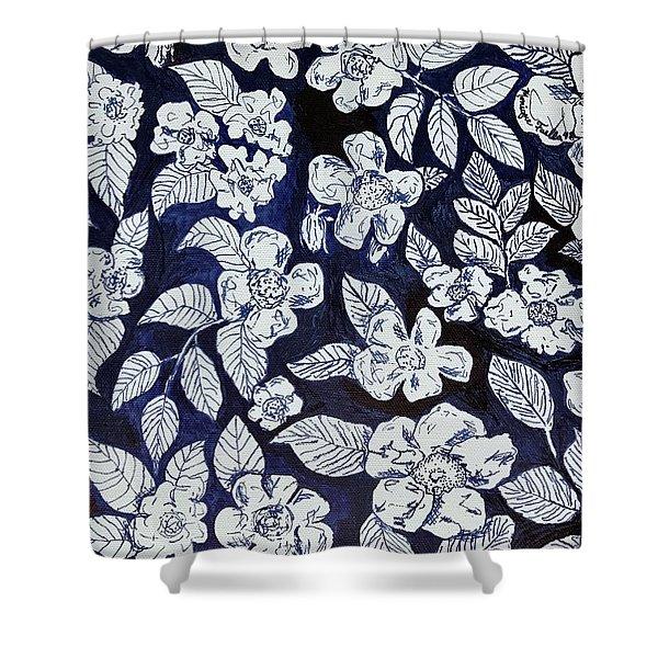 Beach Rose Pattern Shower Curtain