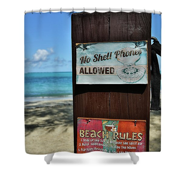 Beach Rules Shower Curtain