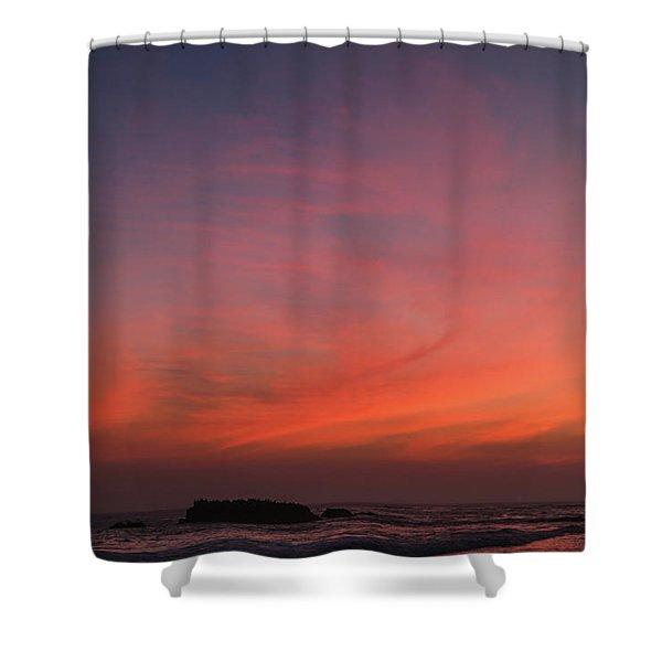 Beach Sky Blaze Shower Curtain