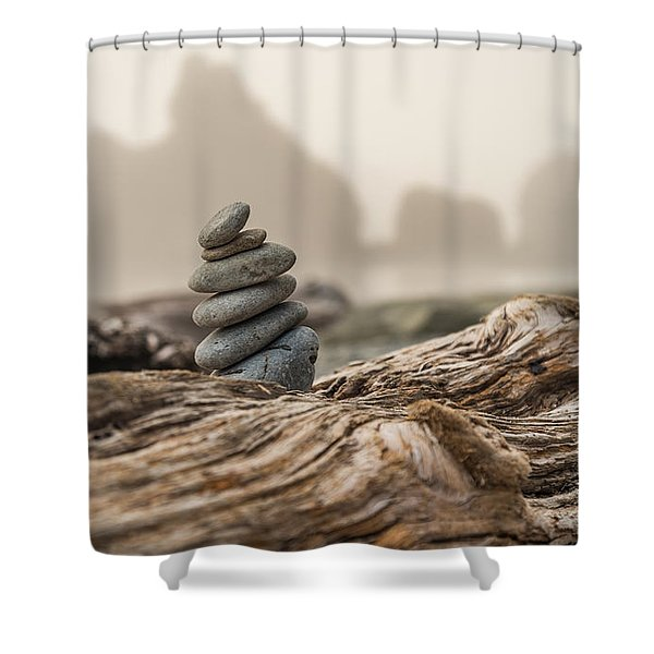 Beach Stack Shower Curtain