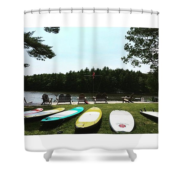 Surf Beach Shower Curtain