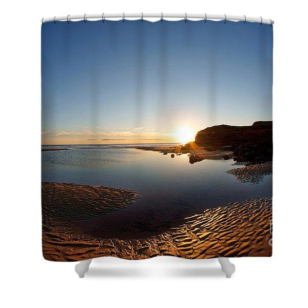 Beach Textures Shower Curtain